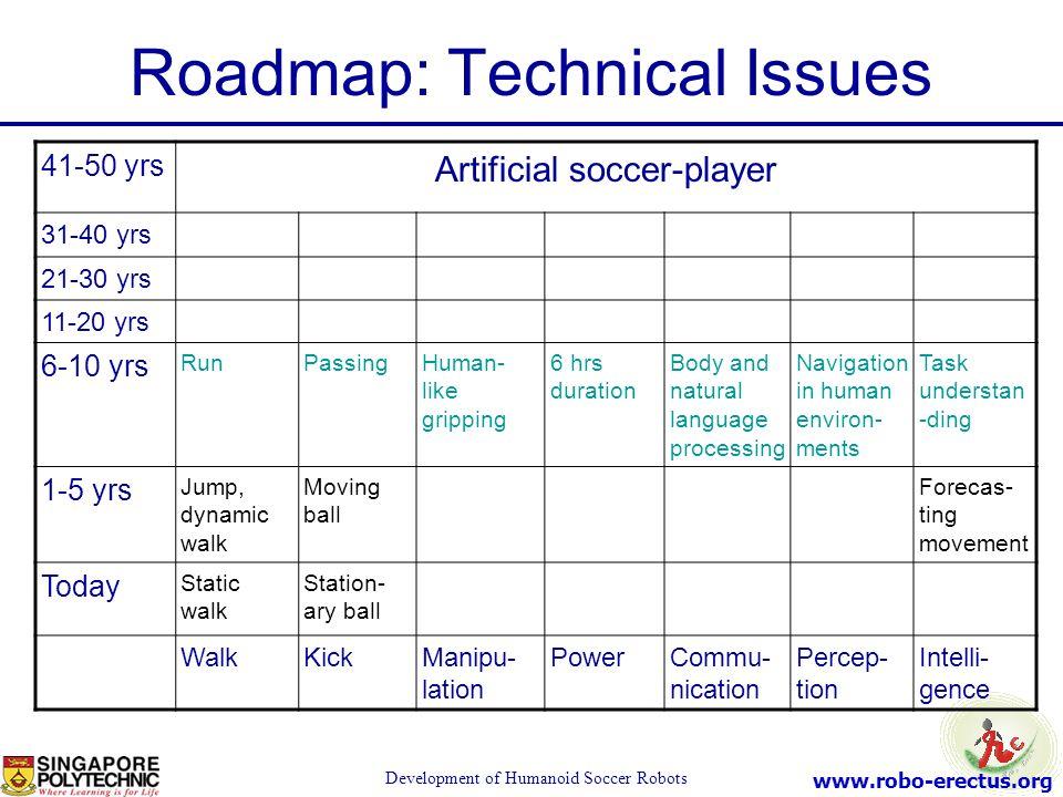 Roadmap: Technical Issues