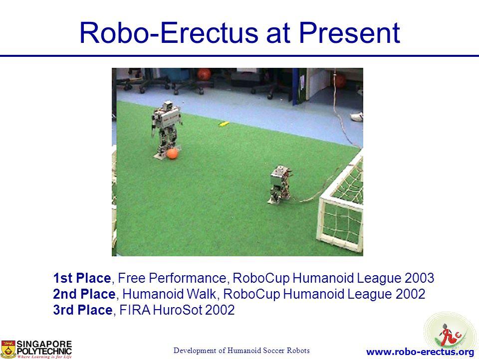 Robo-Erectus at Present