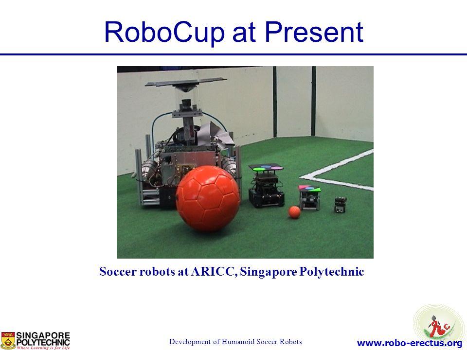 Soccer robots at ARICC, Singapore Polytechnic