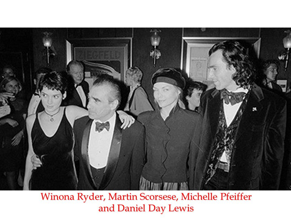 Winona Ryder, Martin Scorsese, Michelle Pfeiffer and Daniel Day Lewis