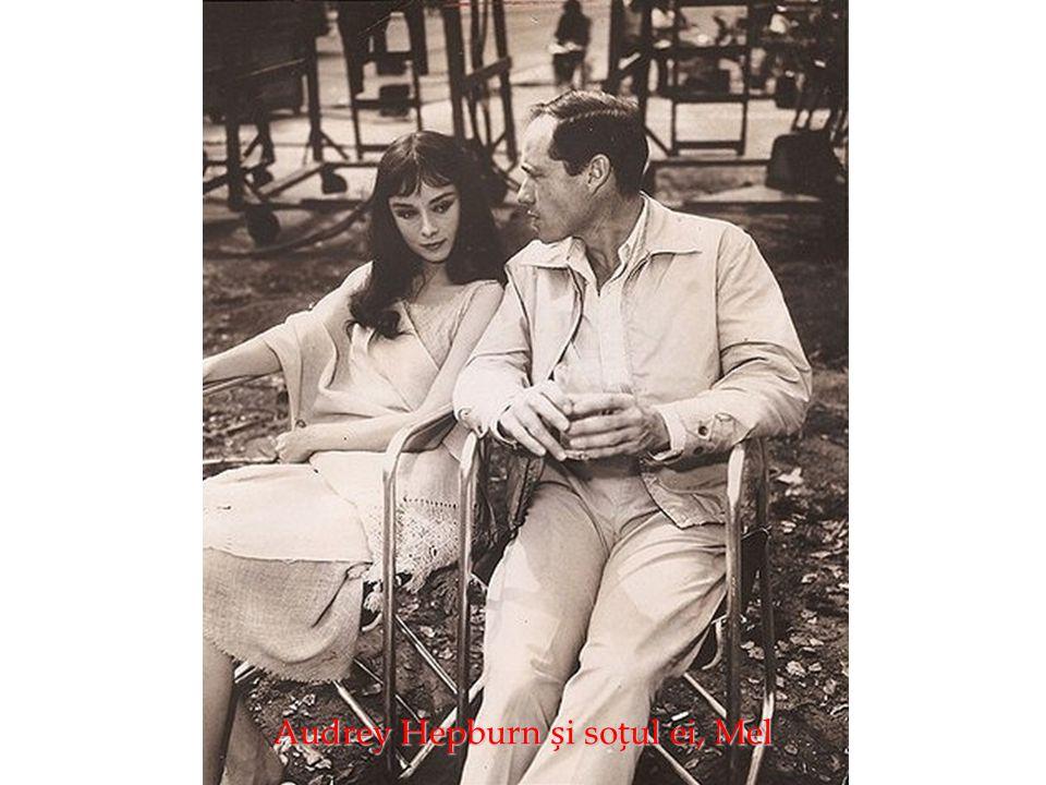 Audrey Hepburn și soțul ei, Mel