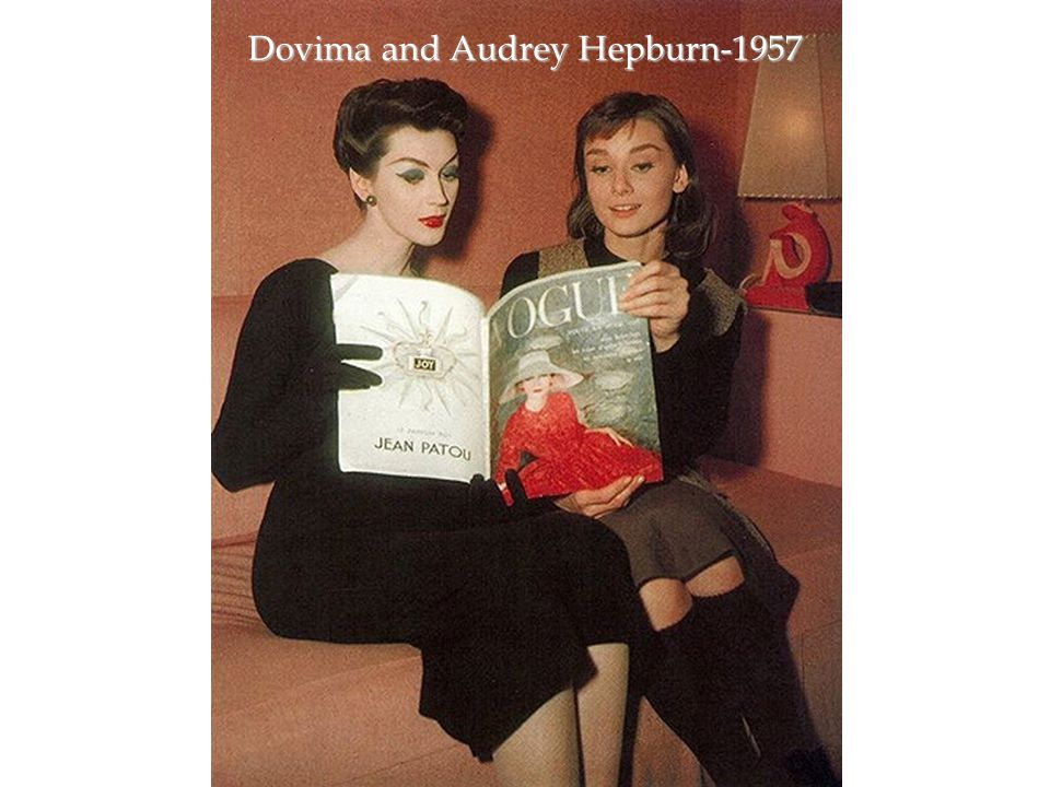 Dovima and Audrey Hepburn-1957