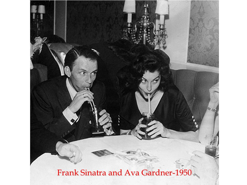 Frank Sinatra and Ava Gardner-1950