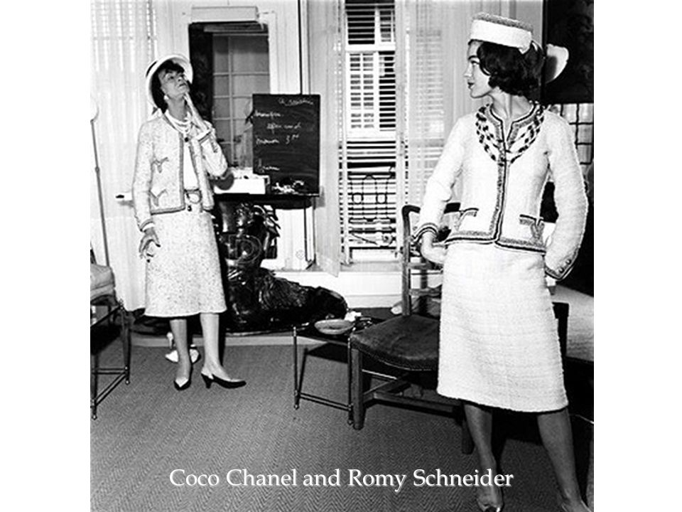 Coco Chanel and Romy Schneider