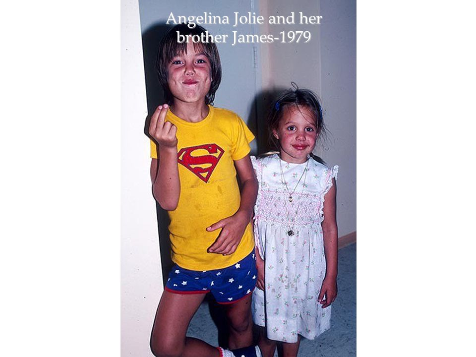 Angelina Jolie and her brother James-1979