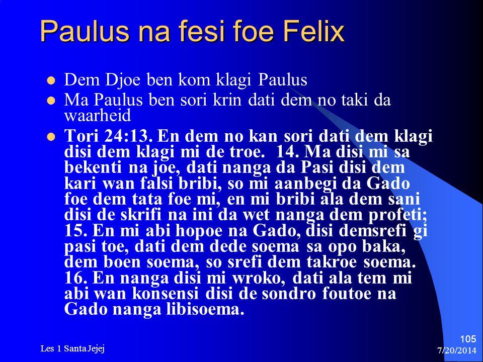 Paulus na fesi foe Felix