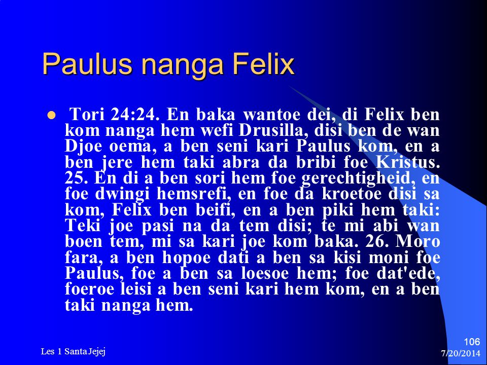 Paulus nanga Felix