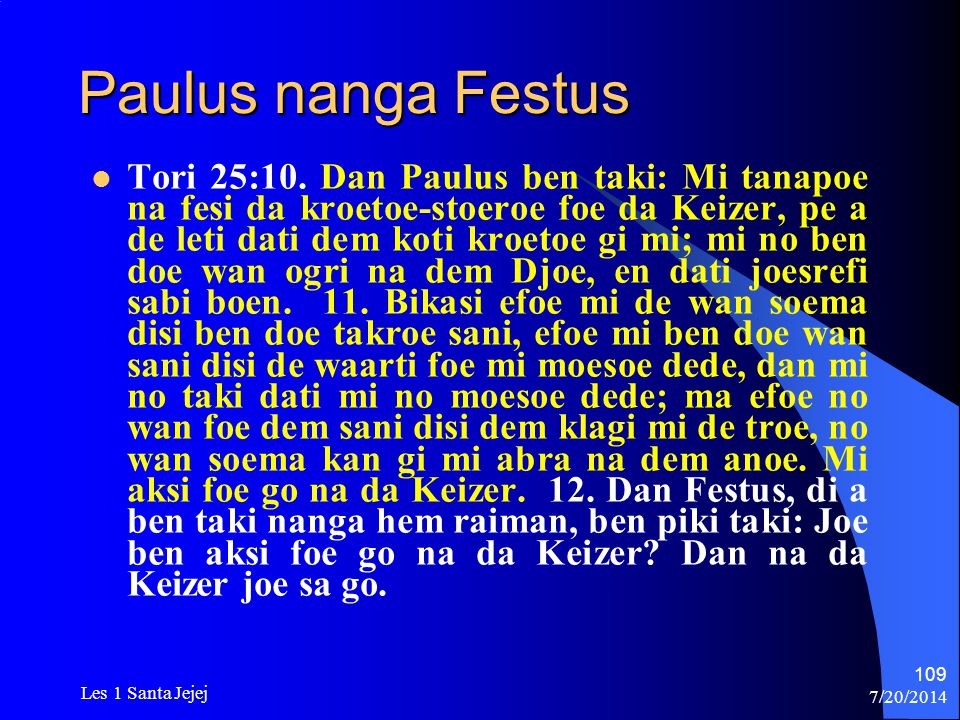 Paulus nanga Festus