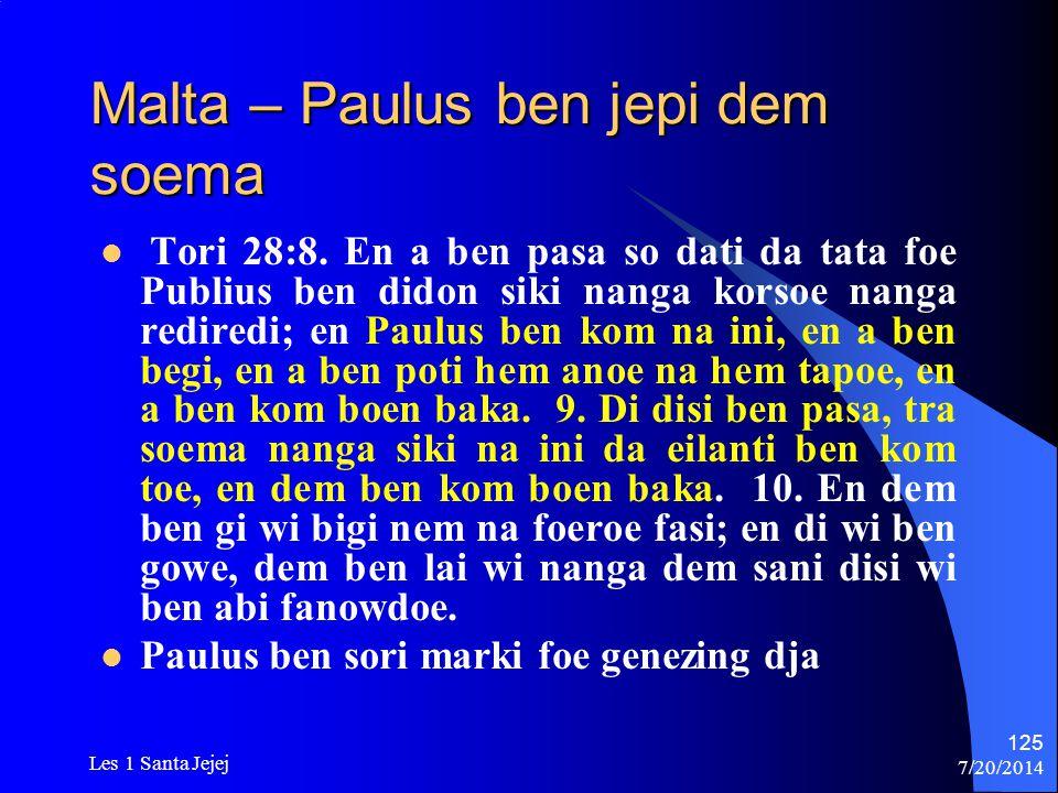 Malta – Paulus ben jepi dem soema