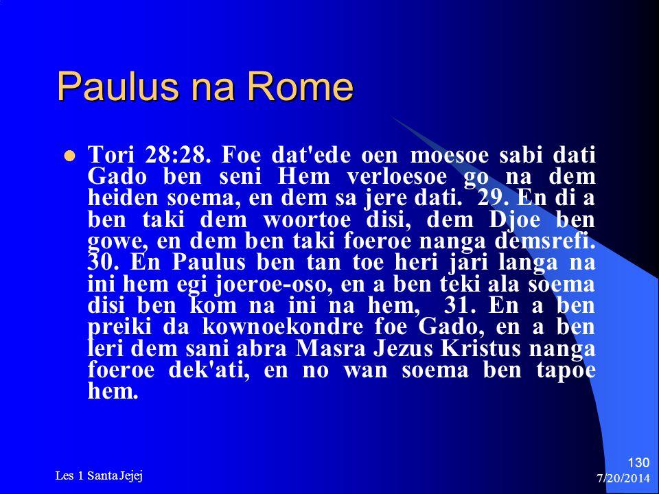 Paulus na Rome