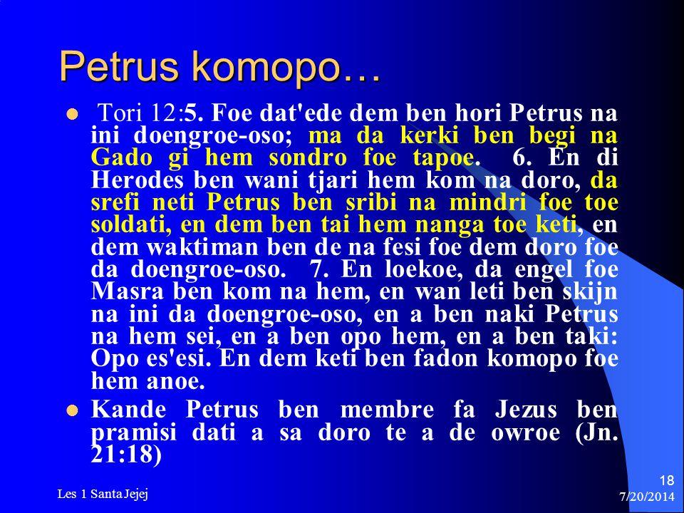 Petrus komopo…