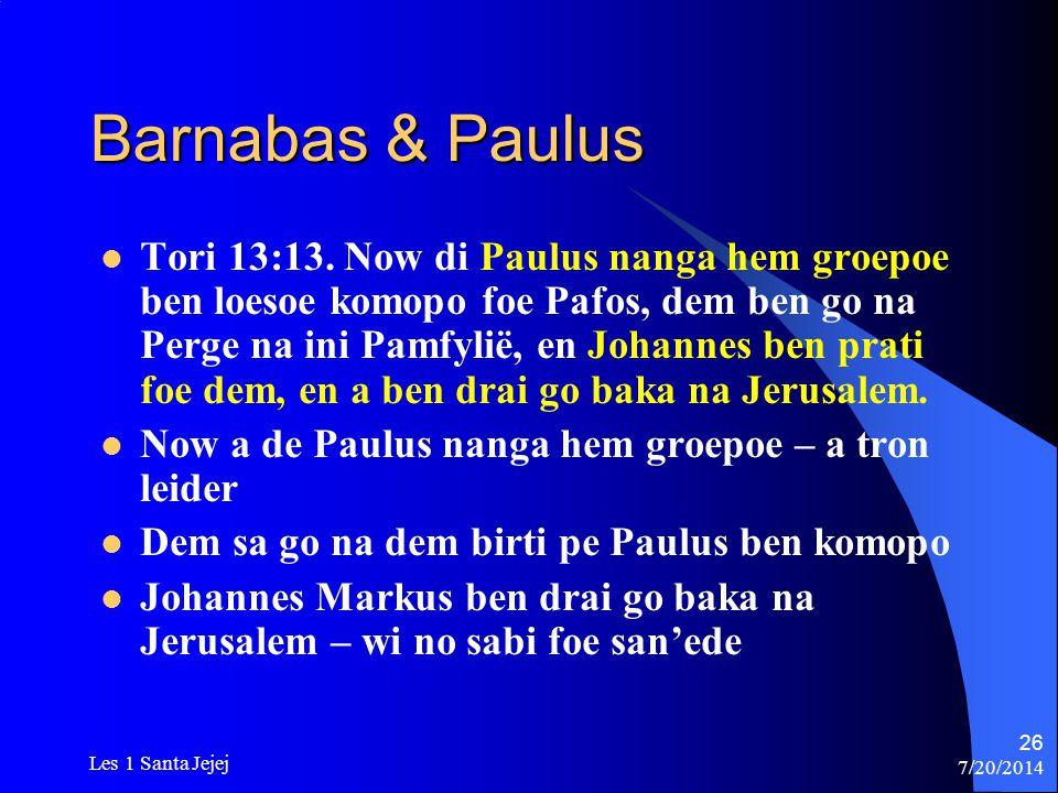Barnabas & Paulus
