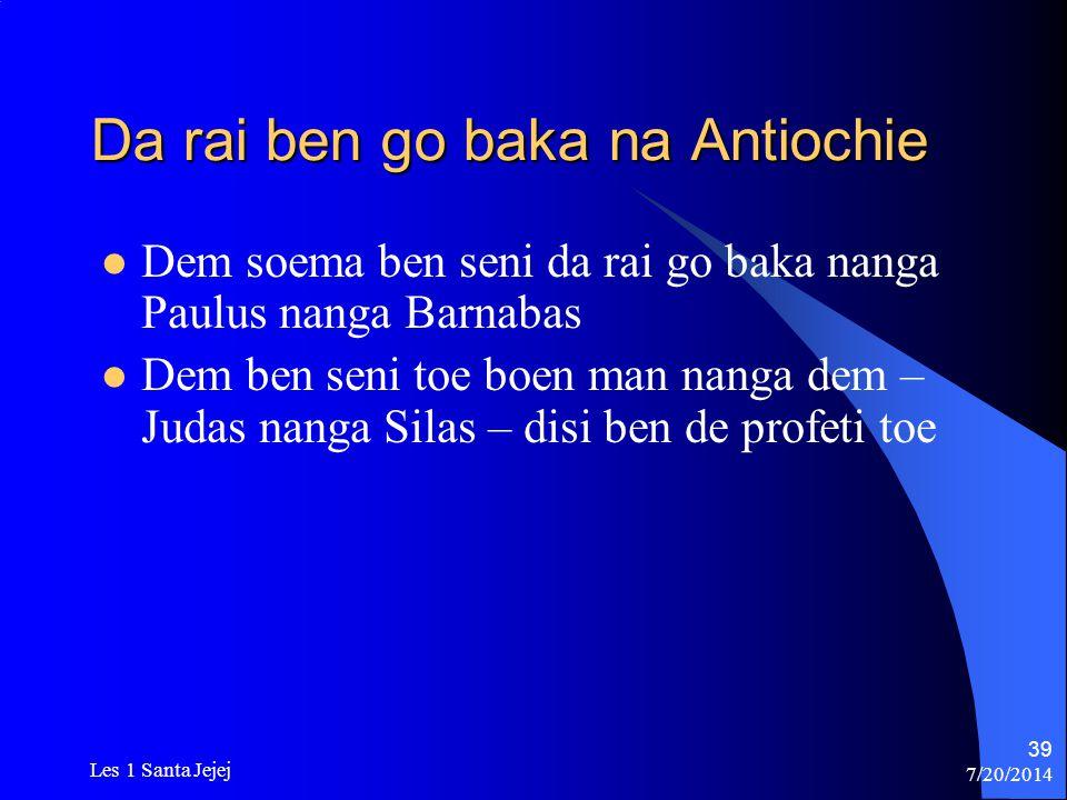 Da rai ben go baka na Antiochie