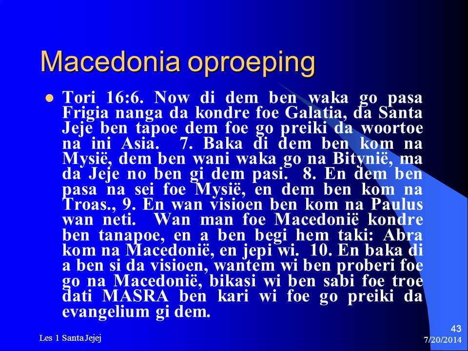 Macedonia oproeping