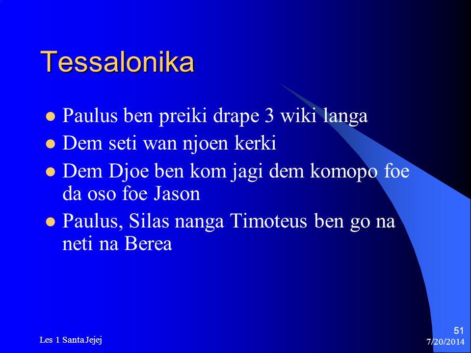 Tessalonika Paulus ben preiki drape 3 wiki langa
