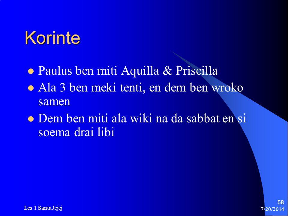 Korinte Paulus ben miti Aquilla & Priscilla