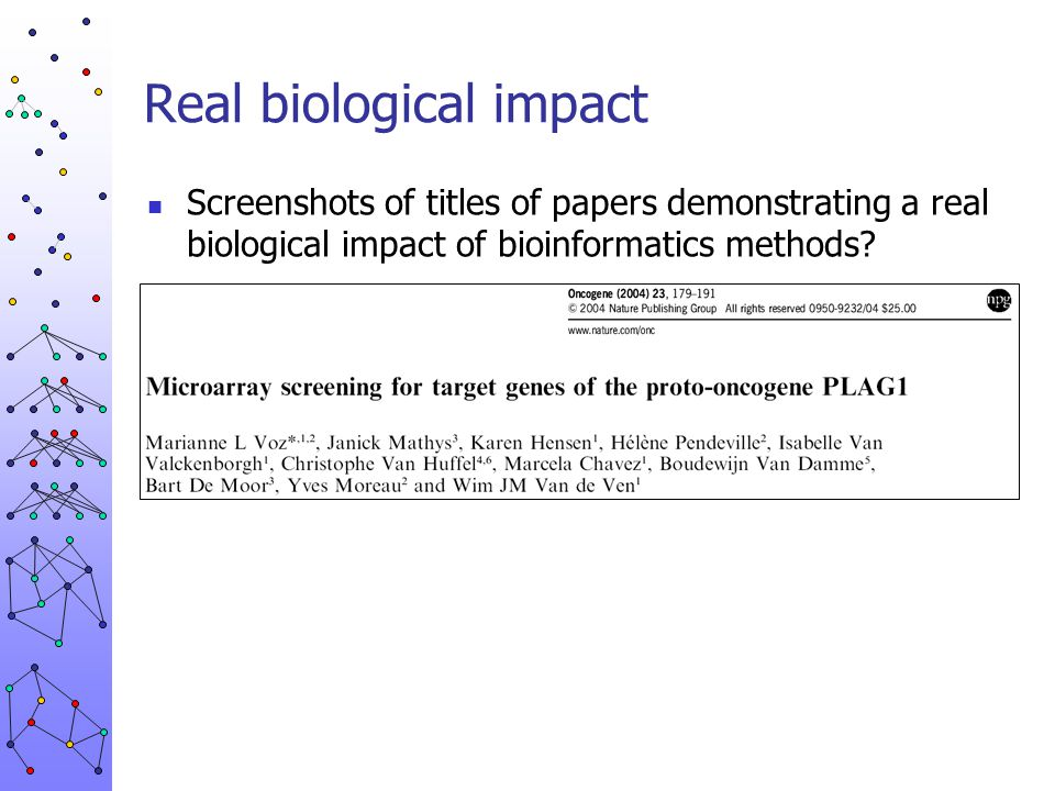 Real biological impact