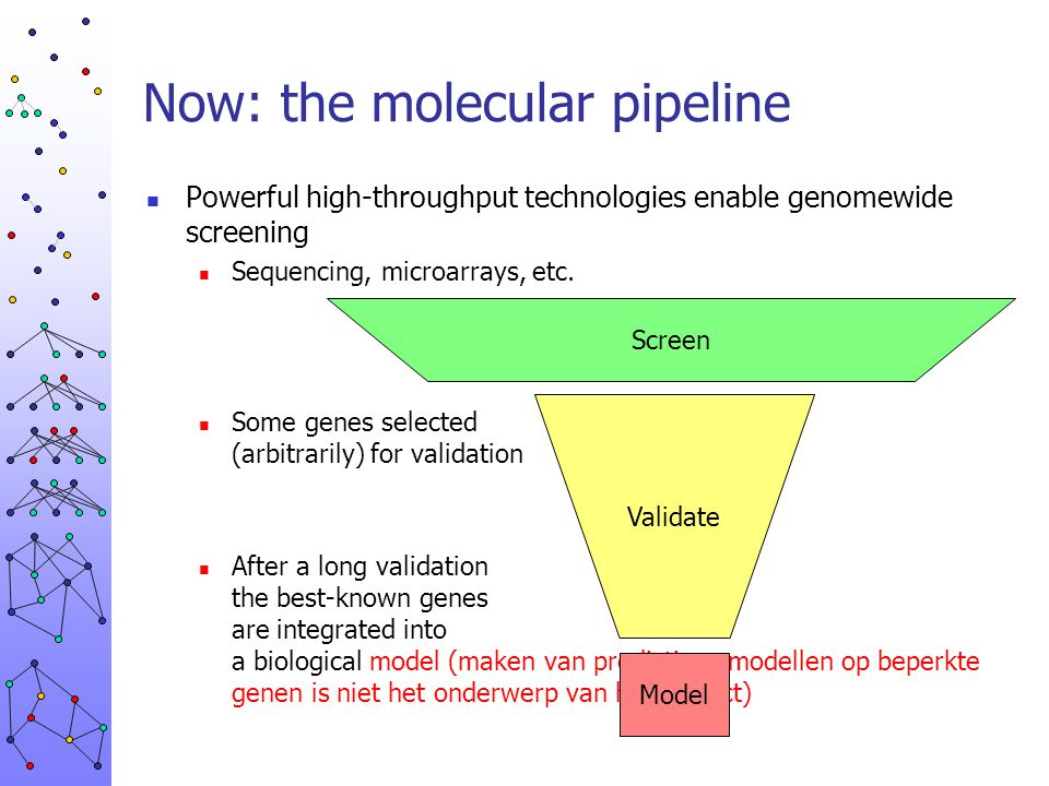 Now: the molecular pipeline