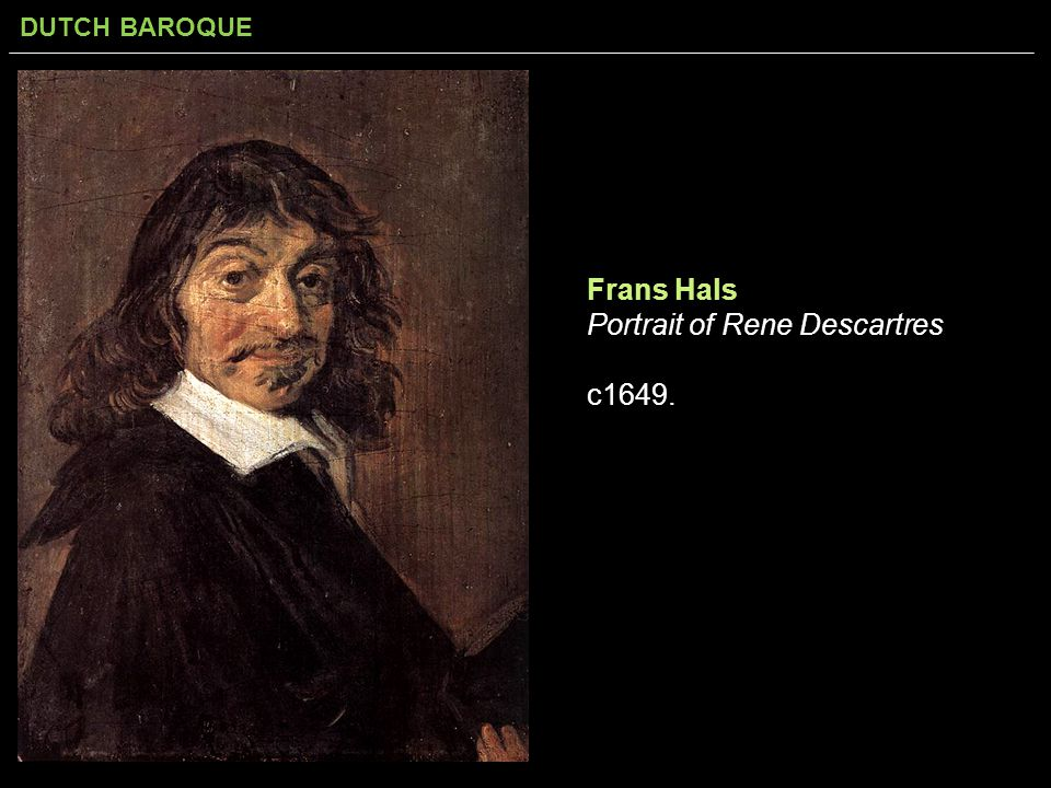 Frans Hals Portrait of Rene Descartres c1649.