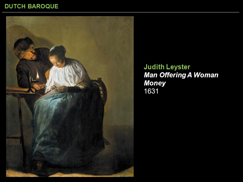 Judith Leyster Man Offering A Woman Money 1631