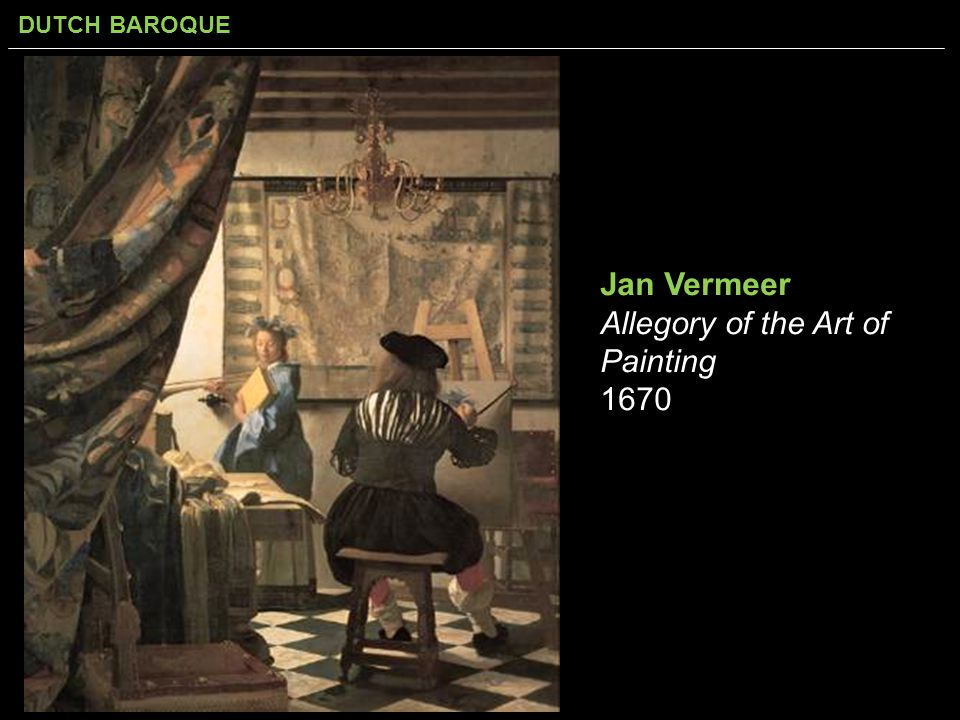 Jan Vermeer Allegory of the Art of Painting 1670