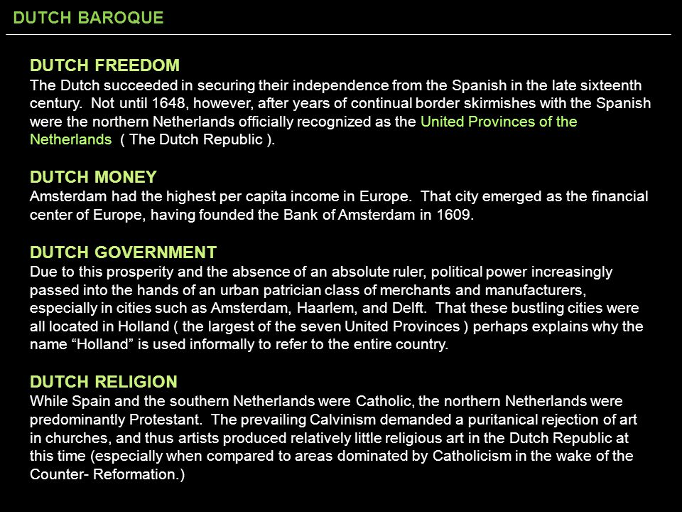 DUTCH FREEDOM DUTCH MONEY DUTCH GOVERNMENT DUTCH RELIGION