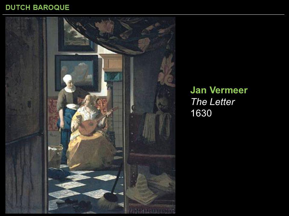 Jan Vermeer The Letter 1630
