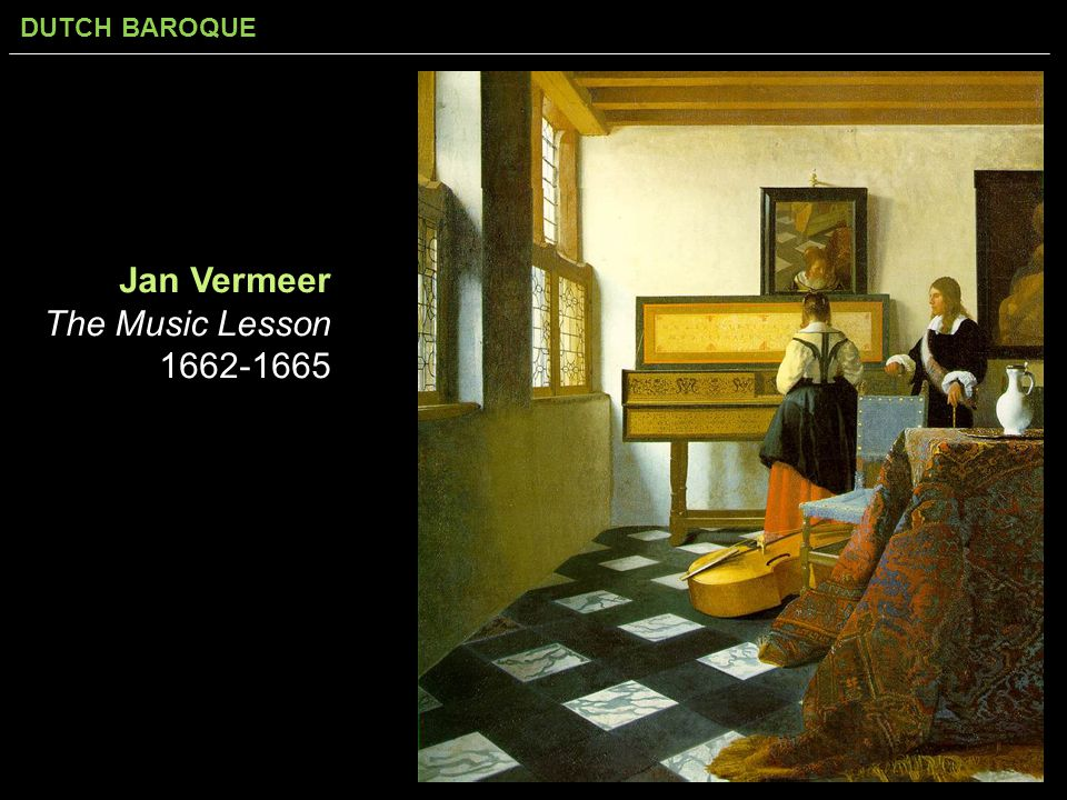 Jan Vermeer The Music Lesson 1662-1665
