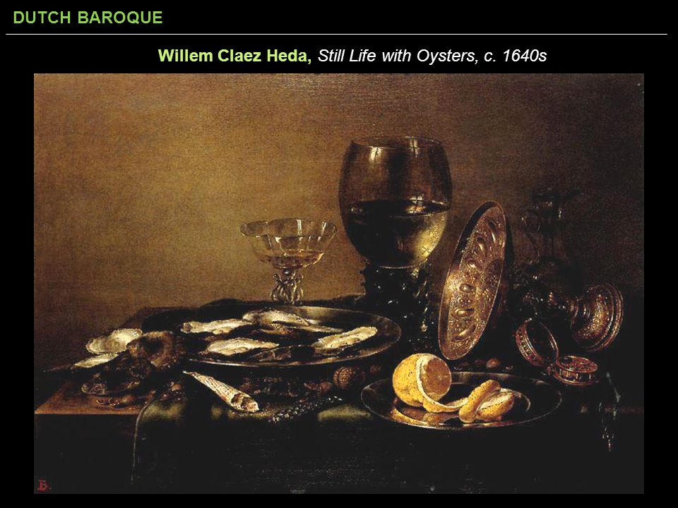 Willem Claez Heda, Still Life with Oysters, c. 1640s