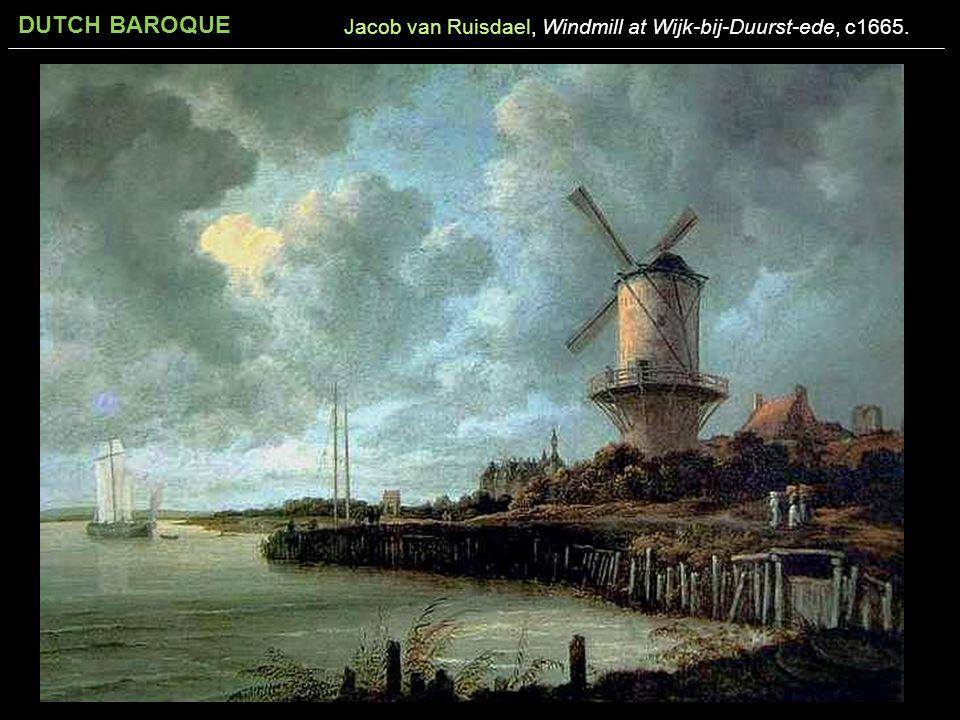 Jacob van Ruisdael, Windmill at Wijk-bij-Duurst-ede, c1665.
