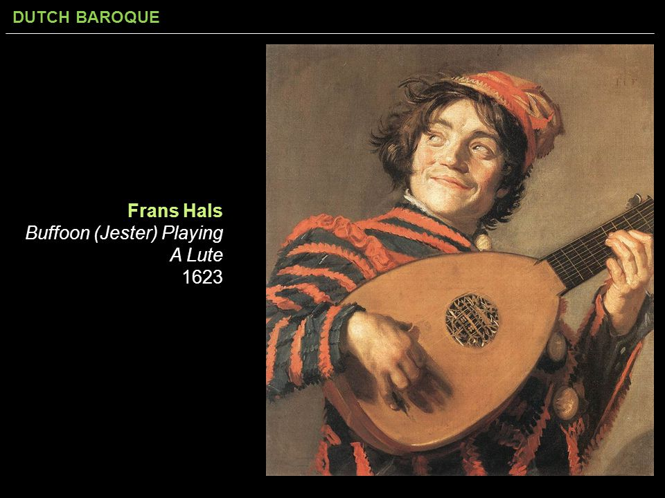 Frans Hals Buffoon (Jester) Playing A Lute 1623