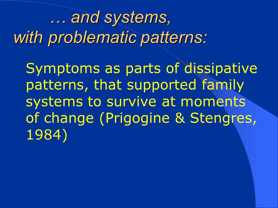 … and systems, with problematic patterns:
