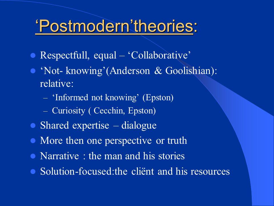 'Postmodern'theories: