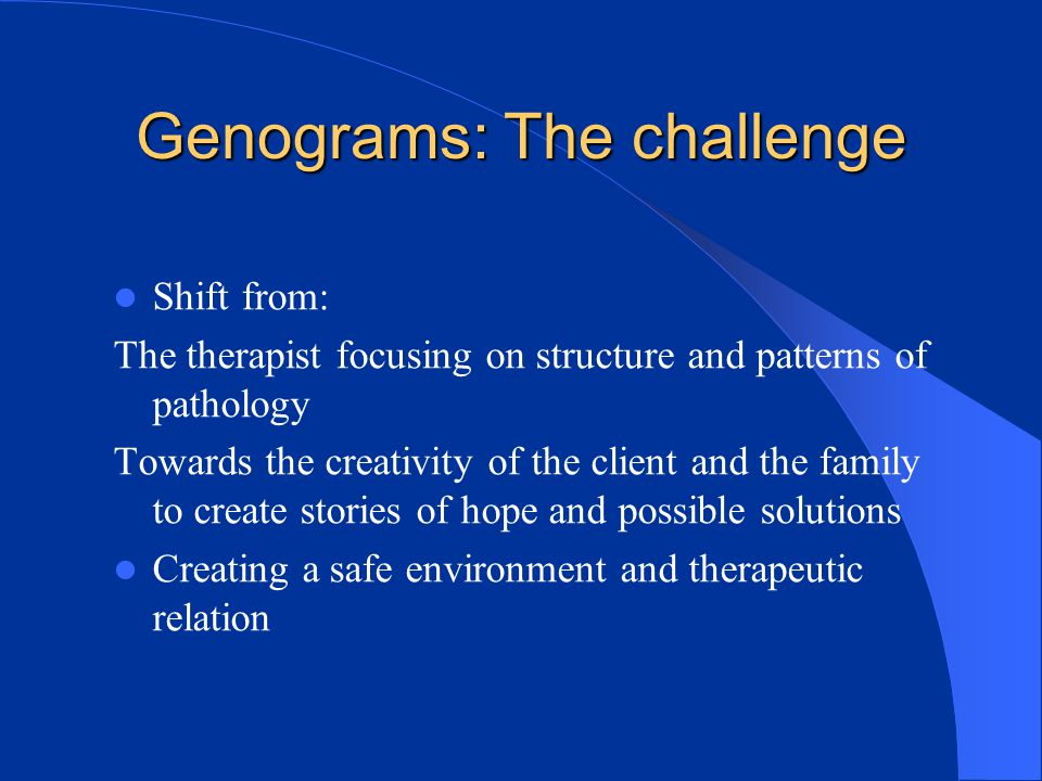 Genograms: The challenge