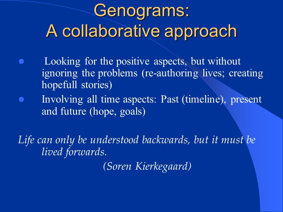 Genograms: A collaborative approach