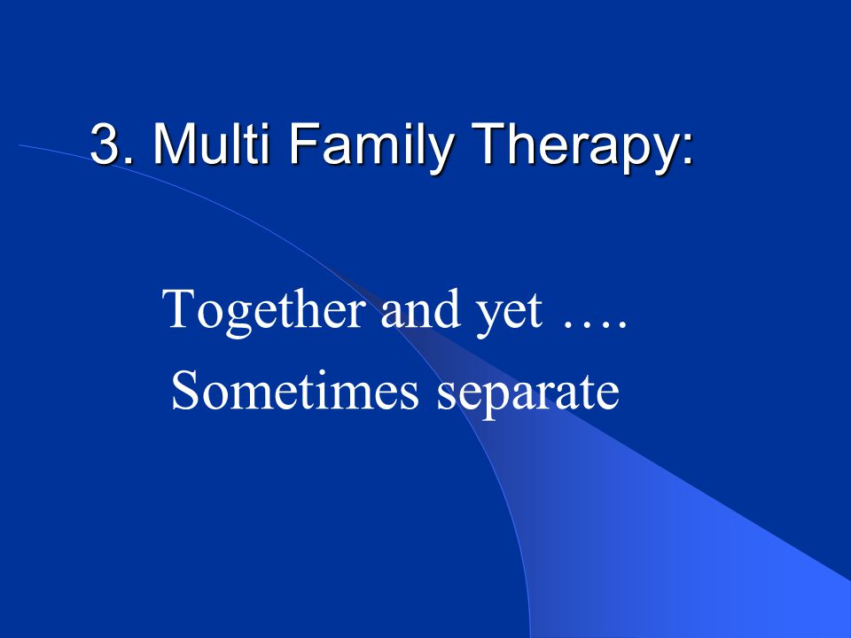 Together and yet …. Sometimes separate
