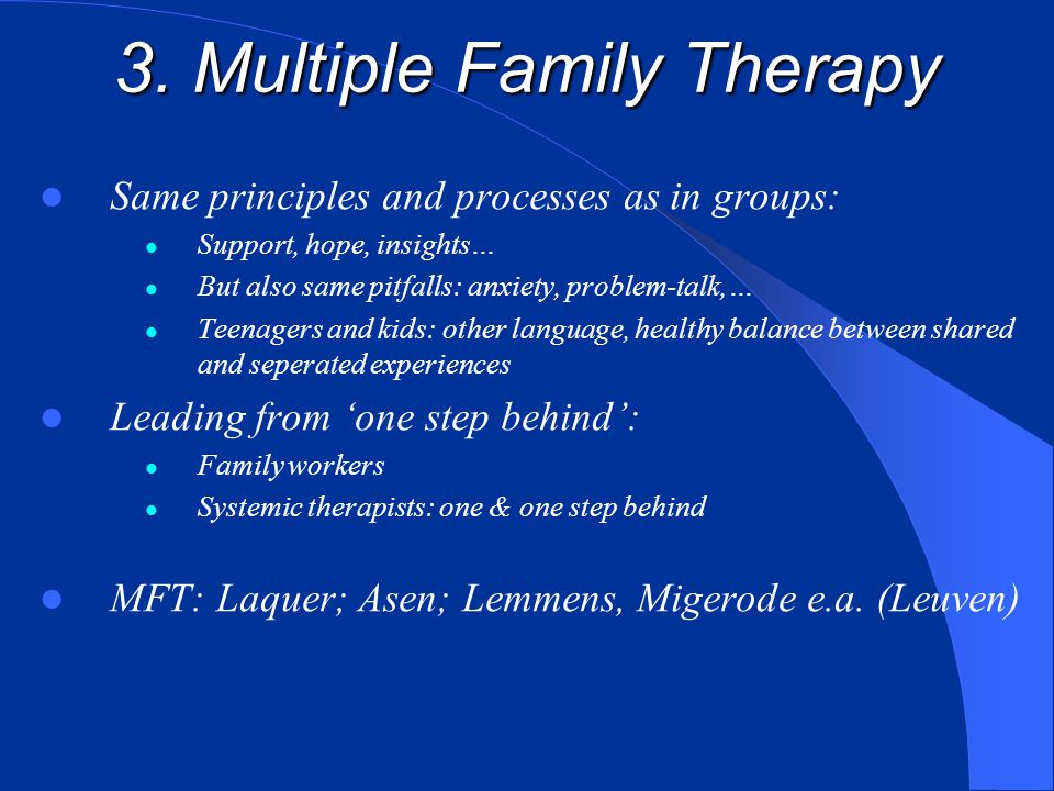 3. Multiple Family Therapy