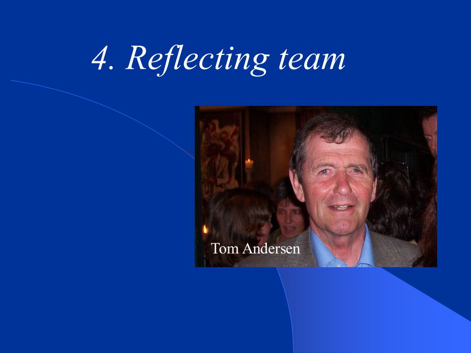 4. Reflecting team Tom Andersen