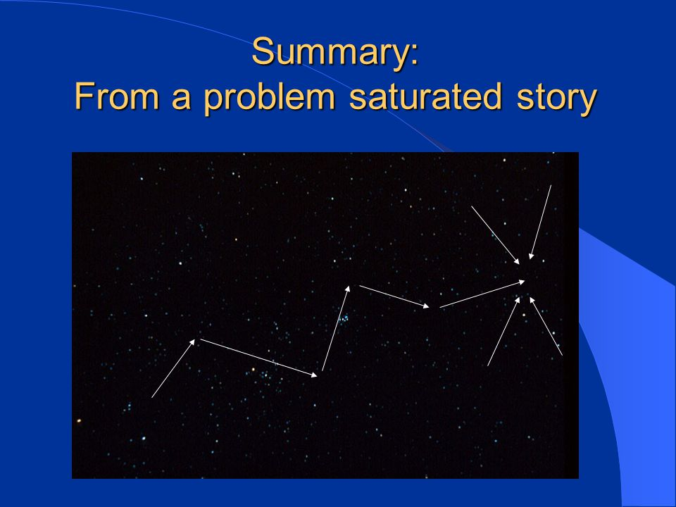 Summary: From a problem saturated story