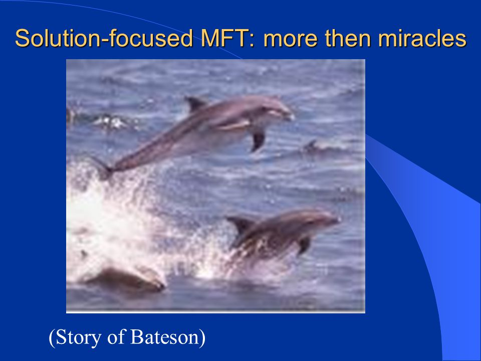 Solution-focused MFT: more then miracles