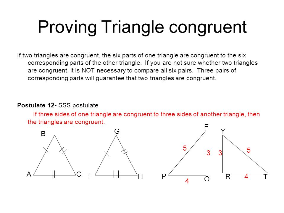 Proving Triangle congruent