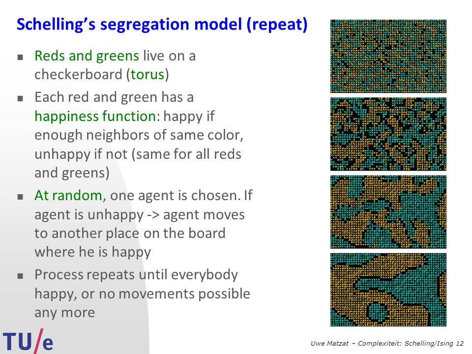 Schelling's segregation model (repeat)