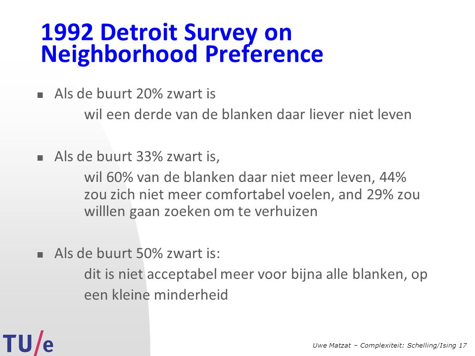 1992 Detroit Survey on Neighborhood Preference