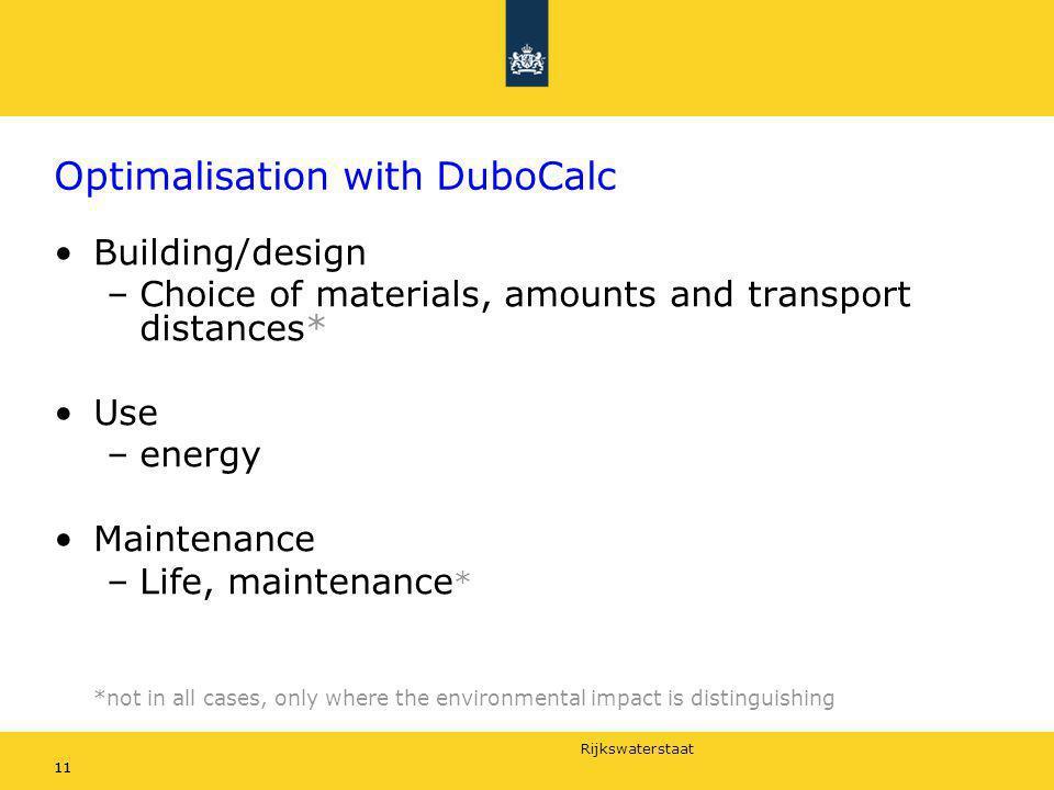Optimalisation with DuboCalc