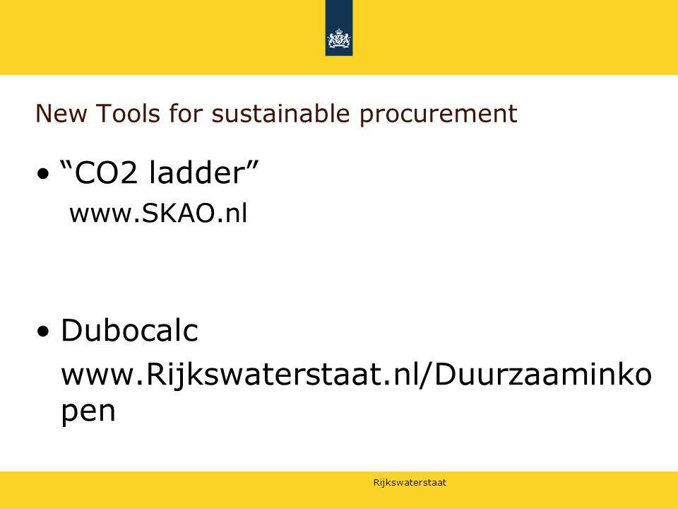 New Tools for sustainable procurement