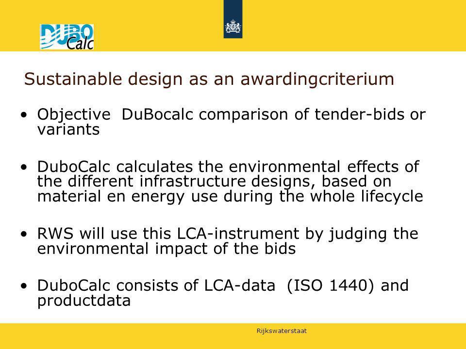 Sustainable design as an awardingcriterium
