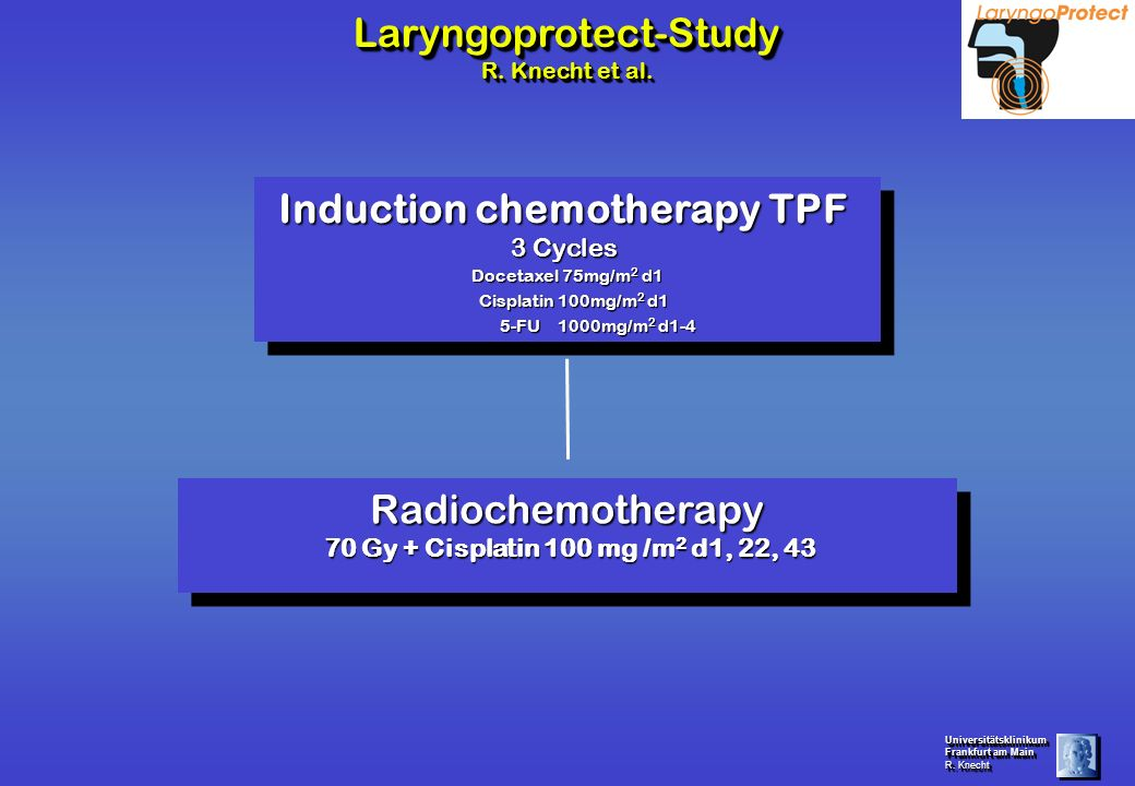 Induction chemotherapy TPF