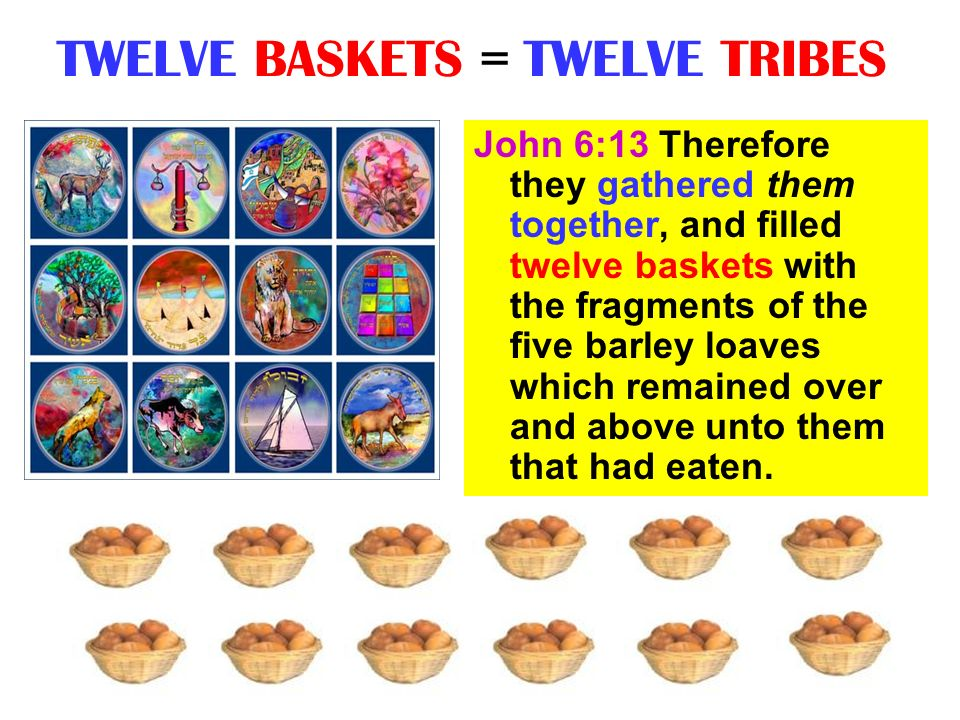 TWELVE BASKETS = TWELVE TRIBES