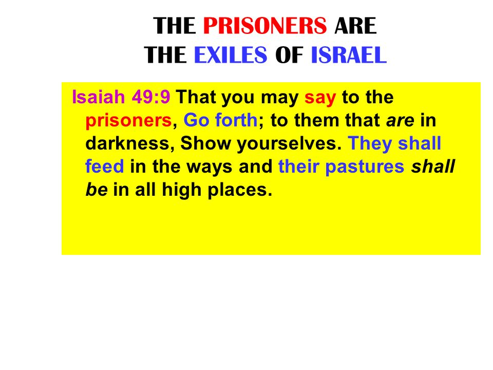THE PRISONERS ARE THE EXILES OF ISRAEL
