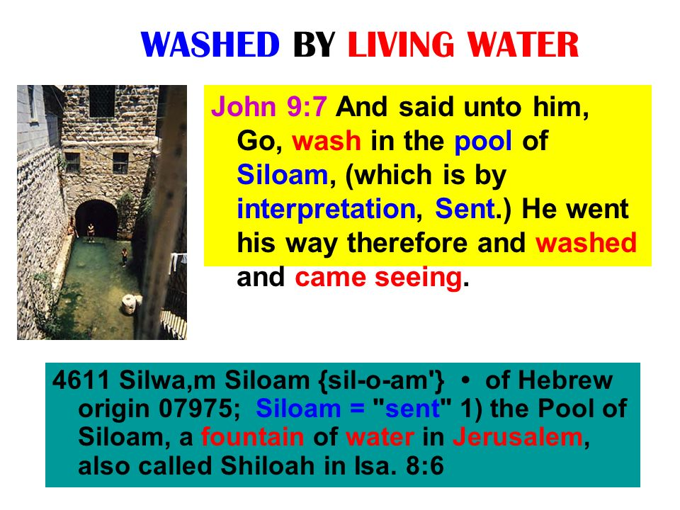 WASHED BY LIVING WATER